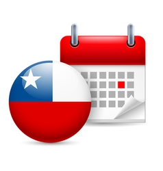Icon of national day in chile vector