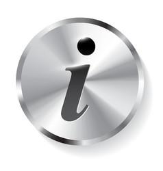Information sign info square metal symbol vector