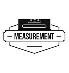 measurement level logo simple black style vector image