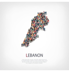 people map country Lebanon vector image vector image