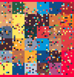 pixel art glitched geometric abstract abstract vector image