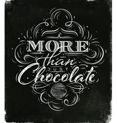 Poster chocolate black vector