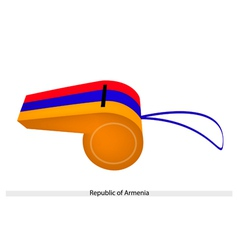 Red Blue and Yellow Stripe on Armenia Whistle vector image