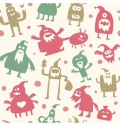 Santa patterns vector image