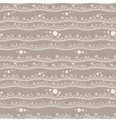Seamless pattern of bands with sprouts vector