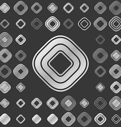 Silver line square logo design set vector