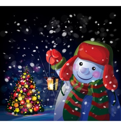 Snowman tree vector
