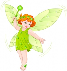 Summer baby fairy vector