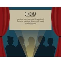 theater movie film icon graphic vector image