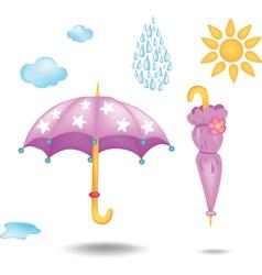 Two umbrellas vector image vector image