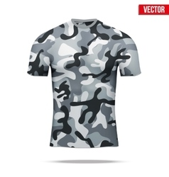 Under layer compression shirt in camouflage style vector
