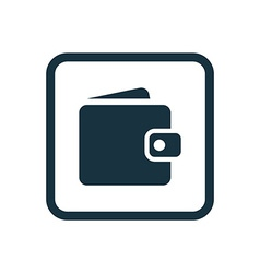 wallet icon Rounded squares button vector image