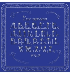 vintade alphabet Letters and frame with vector image