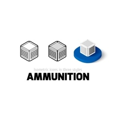 Ammunition icon in different style vector