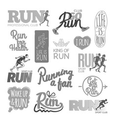 run professional club club go run life is run vector image