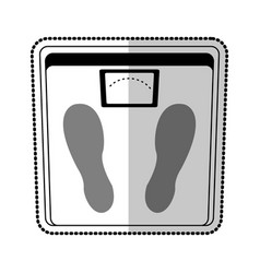 Weight scale icon image vector