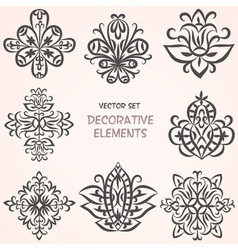 Decorative ethnic elements set vector