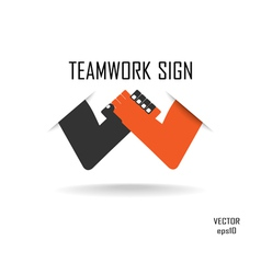 Teamwork sign vector