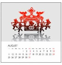 2008 calendar august vector