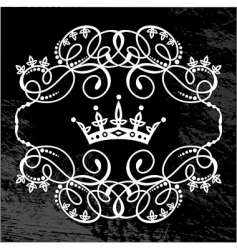 Frame and crown vector