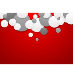 Abstract corporate background with circles vector