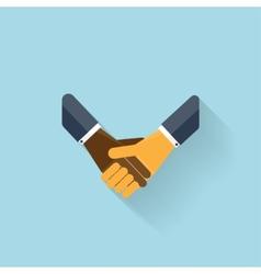 Flat web icon handshake vector