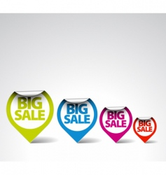 retail sale stickers vector image