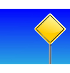 Empty traffic sign vector