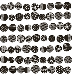 Seamless black and white pattern in scandinavian vector
