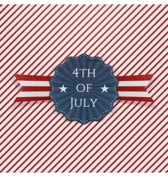 Independence day 4th of july paper emblem vector