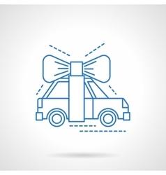 Automobile surprise flat blue line icon vector image vector image