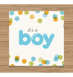 Baby shower card boy vector