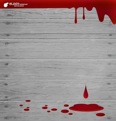 Blood dripping on wood wall blood background vector image vector image