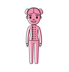 chef woman icon vector image vector image