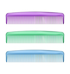 Colorful Combs on white vector image