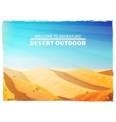 Desert landscape background poster vector