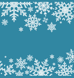 doodle snowflakes background vector image