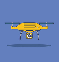 Drone technology aerial surveillance vision vector