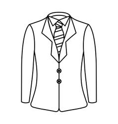 Elegant gentleman suit icon vector