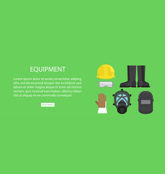equipment advertising web banner vector image
