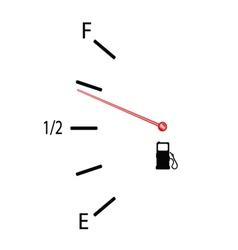 Fuel gauge with symbol vector