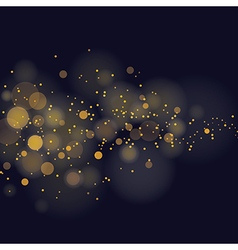 Glittering stars on bokeh background vector