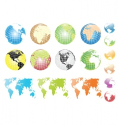 globes and maps vector image vector image
