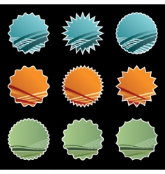 gradient stickers on black vector image vector image