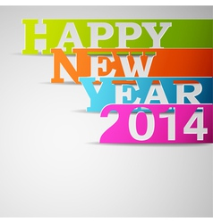 Happy new year 2014 paper strips vector image