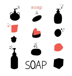 Icons soap vector