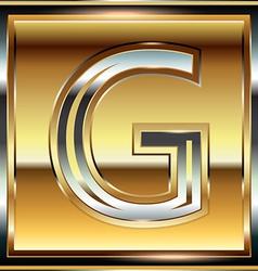 Ingot Font Letter G vector image