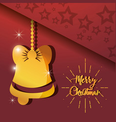 Merry christams bell hanging decoration vector