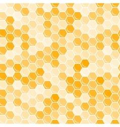Orange honeycomb background vector