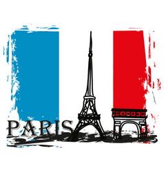 Paris france - grunge abstract card vector